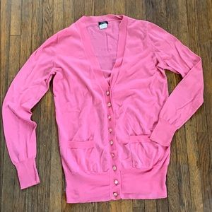 J. Crew Forever Cardigan, Small, Pink